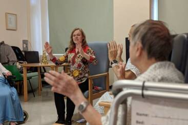 Charity support brings dance workshops to elderly patients