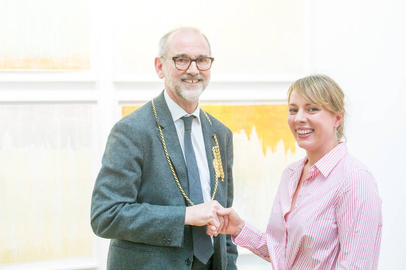 Charity art collection wins print fair prize