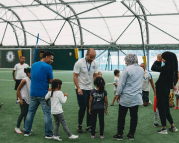 Big kick off for community health project with Chelsea Foundation