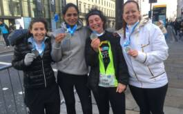 St Mary's staff run together to raise...