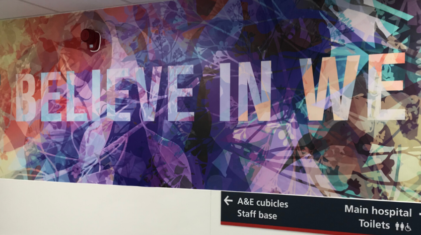 Titchner artwork inspires uplifting new look for Charing Cross A&E