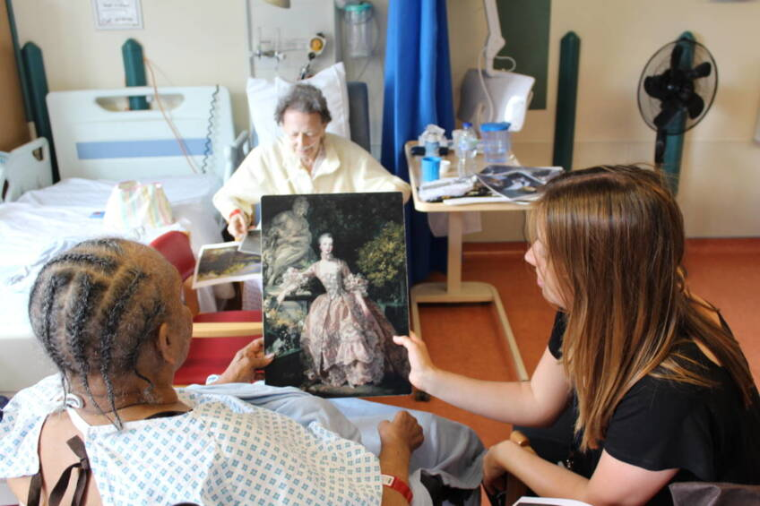 Hospital visits bring the museum to patients