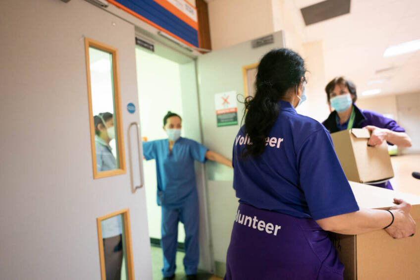 Volunteering on the front line: how we supported our NHS staff in a time of crisis