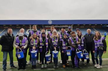 On the ball! QPR FC gets behind The Blood Fund